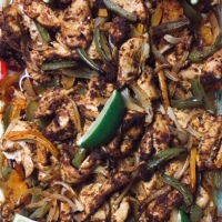 Oven-Roasted Chicken Fajitas