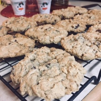 Cranberry Dark Chocolate Pecan Oatmeal Cookies
