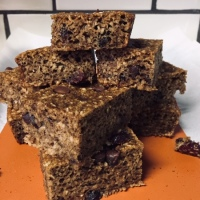 Chocolate Cranberry Pecan Banana Bread Bars - GF, DF