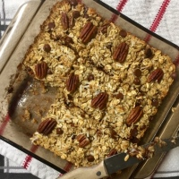 Chocolate Coconut Pecan Baked Oatmeal -GF, DF