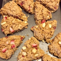 Strawberry Pear Oatmeal Scones - GF, DF